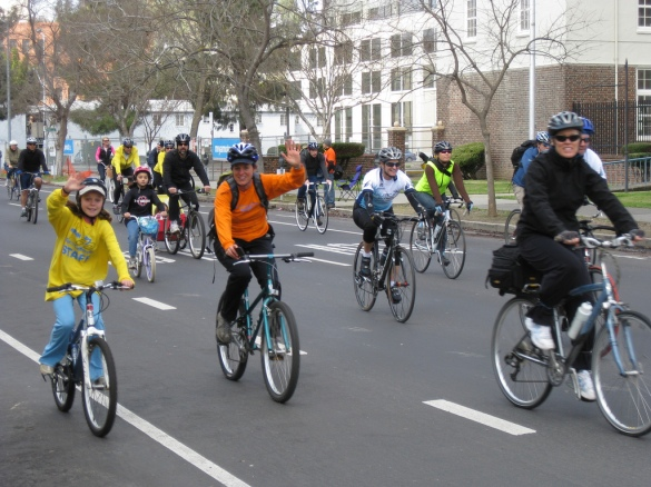 A community ride in 2009. Looks like a nice turnout, but we can think even bigger.